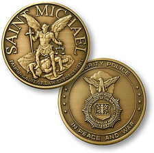 U.S. Air Force - Saint Michael / Security Police - USAF Bronze Challenge Coin