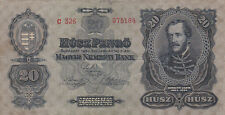20 PENGO FROM HUNGARY 1930 FINE-VF BANKNOTE!PICK-97!RARER TYPE!