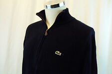Lacoste Men's Half Zip Knit Navy Blue Cotton Sweater Sz 5 XL