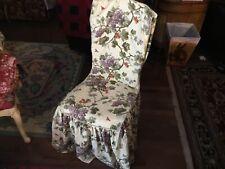 """Waverly Garden Room Dining Chair Slip Cover Carolina Garden Grapes 42"""""""