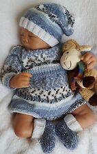Baby Knitting Pattern DK #60 TO KNIT Baby Boys Girls or Reborn Dolls Romper Set