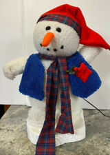 "17"" Santa's Best North Pole MR SNOWMAN Jacket Christmas Holiday Animated Figure"