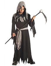 Kids Zombie Robe Costume Scream Ghost Grim Reaper Shredded Halloween Fancy