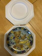 """Franklin Mint """"Teddy's Easter Treat"""" limited edition Excellent Condition!"""