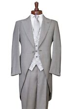 GREY 3 PIECE WEDDING SUIT TAILS MORNING SUIT TAILCOAT JACKET, TROUSER, WAISTCOAT