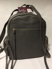 NWT KOOBA MILFORD Slate Gray Soft Pebbled Leather Backpack Rucksack Large