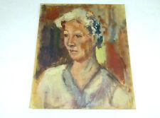 Art Déco Tableau Portrait Portrait Peinture à l'huile À 1920