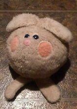 "Playskool Bunny Rabbit Ball Gray and Floral 8"" Plush Stuffed Toy Vintage 1976"
