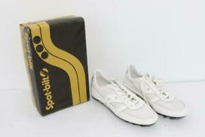 Vintage Spot-Bilt White Spitfire Athletic Cleats Size 5 1/2 or 8US *NEW*