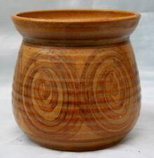 Alingham Studio Pottery Vase or Cachepot. Swirl decoration. Signed.