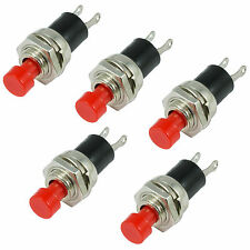 5 x rosso miniatura istantaneo a pressione per fare INTERRUTTORE MINI SPST
