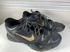 Nike Zoom Kobe 7 System Elite Black/Metallic Gold 511371-001 Size 11