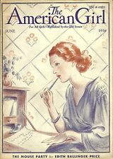 VINTAGE  GIRL SCOUT - 1936 AMERICAN GIRL - JUNE