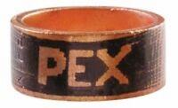 "(100) Sioux Chief 649X2 1/2"" PEX Crimp Rings Copper USA"