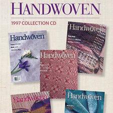 5 Issues on CD: HANDWOVEN MAGAZINE 1997 Indigo Dyeing Rags Velveteen Linen Huck