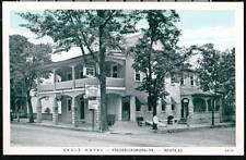 FREDERICKSBURG PA Eagle Hotel & Restaurant Vtg Postcard Old PC
