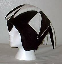 NEW fleece jester snowboard hat- black and white