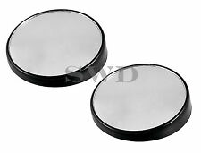 x2 Universal Convex Blind Spot Mirrors Round Self Adhesive Car Towing Caravan