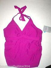 NWT New $72 Purple Twister Athleta Tankini Top Swim 40 B C Halter Bra Bikini