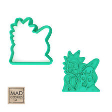 Rick and Morty Scary Cookie Cutter - Rick and Morty - 3D Printed