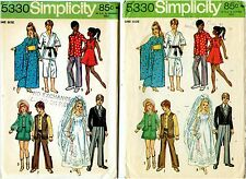 Simplicity 5330 Sewing Pattern for 11 1/2 Teen  Doll Clothes Western Kimono