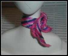 Accessory Barbie Doll Pilot Pink Purple White Scarf Tie Hair Band For Diorama
