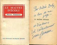 Pierre Gamarra - Le maître d'école - EO 1955 - ENVOI