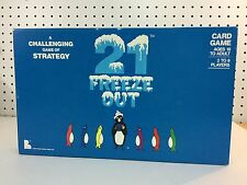 21 Freeze Out RARE Vintage Card Game Challenging Strategy 1986