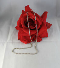 """Sterling Silver Italy Rope Chain 8.29g 18"""" Necklace Cat Rescue"""