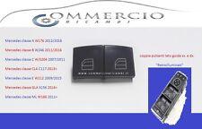 PULSANTI ALZAVETRO MERCEDES CLASSE A W176 2012/16 COPPIA LATO GUIDA SX. / DX.