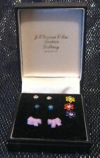 Earrings very pretty stud style stone or flower style in box J B Gaynan & son