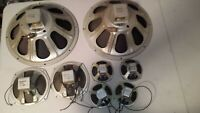 "(QTY=8) SPEAKERS 15"" PAIR 8"" PAIR (Qty=4@5"" SET)  Magnavox Jensen Alnico STEREO"