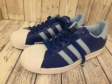 Mens Adidas Superstar 2-Tone Blue Trainers Size 7 Leather Uppers