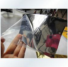 "6""x60"" Car Auto Vehicle Chrome Sticker Silver Gloss Foil Vinyl Film Sheet"