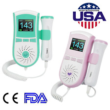 From US!Pocket 3Mhz Fetal Doppler LCD Baby Heart Rate Monitor Pregnancy+Free Gel