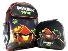 "Rovio Angry Birds Space Boys 16"" Canvas School Backpack Plus Lunch Bag Set"
