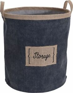 Denim Canvas Pop Up Storage Bag Pop Up Laundry Bag Washing Basket