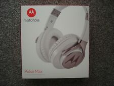 Motorola Pulse Max Over Ear Wired Headphones in white Brand new unused Sealed