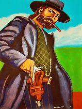 HELL ON WHEELS PRINT poster anson mount amc western cowboy hat cigar colt pistol