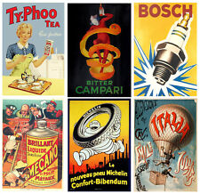 VINTAGE ADVERTISING POSTERS WALL ART PRINTS A2 / A3 / A4