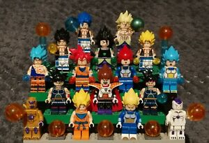 Lot spécial DRAGON BALL SUPER : BROLY, 16 figurines au format lego, neuves !!!