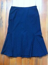 Laundry by Shelli Segal black flamenco-style skirt with red pinstripe size 4