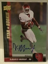 DeMarco Murray 2009 UD Upper Deck Star Rookie RC Autograph Auto #60  EAGLES / OU