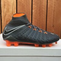 Nike Hypervenom Phantom III 3 Elite DF FG Soccer Cleats Grey Size 4.5 AH7270-081