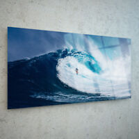 Glass Picture Wall Art Canvas Digital Print ANY SIZE Surfing Wave Sea p163429