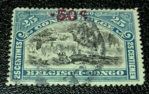 Belgian Congo: 1922 Definitive Issues of 1915 Surchar. Rare & Collectible Stamp.
