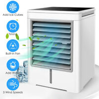 KQ_ USB Mini Portable Air Conditioner Cooler Home Office Touch Screen Cooling Fa
