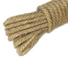 KINGLAKE 100% Natural Strong Jute Rope 65 Feet 4mm 3 Ply Hemp Rope Cord For Arts