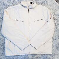 pierre cardin Beige Off White Jacket Men's Size XL Inner Quilted Coat