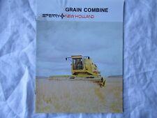 Sperry New Holland 1400 1500 grain combine brochure